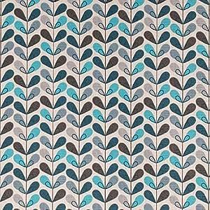 Tissu coton cretonne scandinave - Bleu