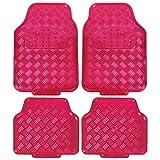 EUGAD Universal Auto Fußmatten Matten, ALU Look Chorm Optik, Riffelblech Pink AM7161