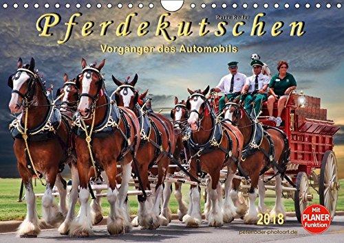 Pferdekutschen - Vorgänger des Automobils (Wandkalender 2018 DIN A4 quer): Kutschen, früher Statussymbol und das Reisefahrzeug schlechthin. ... Tiere) [Kalender] [Apr 04, 2017] Roder, Peter