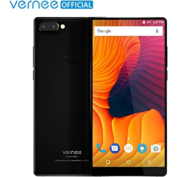 Smartphone Ohne Vertrag,Vernee Mix 2 4G LTE Dual-SIM Handy, 6.0 zoll 18: 9 FHD + Bildschirm,4 GB RAM 64 GB ROM,MT6757CD Octa Core Android 7.0,13MP/5MP Dual-Kameras + 8MP Frontkamera,4200mAh Akku,Fingerabdruck (Schwarz)