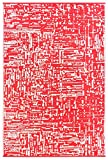 Grün Deko-leichte Outdoor wendbar Kunststoff Teppich Cosmopolitan, Plastik, rot/weiß, 120 x 180 cm