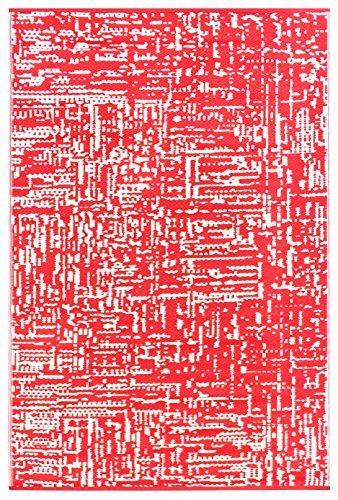 Outdoor-rot-teppich (Grün Deko-leichte Outdoor wendbar Kunststoff Teppich Cosmopolitan, Plastik, rot/weiß, 120 x 180 cm)