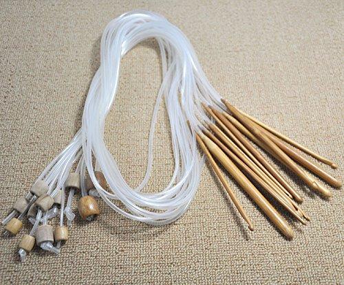 12 Größen Häkelnadeln Afghan tunesischen Carbonized Bamboo Needle 1,2 m 48