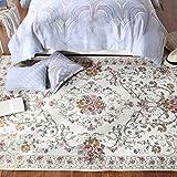 alfombra campo estadounidense noche sala de estar Mesa de centro Estilo mediterráneo Continental Sala Lavar a máquina (Color : ED007, Tamaño : 140cm*200cm)