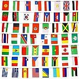 jettingbuy 82FT National Flaggen Wimpelkette, World Flaggen mit 100verschiedene Länder