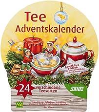 Tee Adventskalender 2018 mit 24 verschiedenen Sorten Kräuter- und Grünem Tee von Salus - neue Kollektion 2018