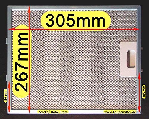 Metal 305x 267-Filtro de grasa para campana, mejor calidad, 10de LG.