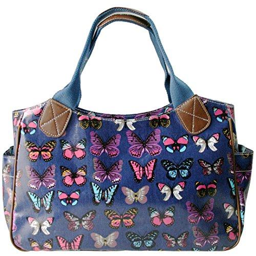 Miss Lulu, Damen Tote-tasche Butterfly Navy