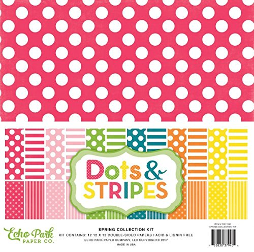 "Preisvergleich Produktbild Echo Park Double-Sided Collection Pack 12""X12"" 12/Pkg-Spring Dots & Stripes"