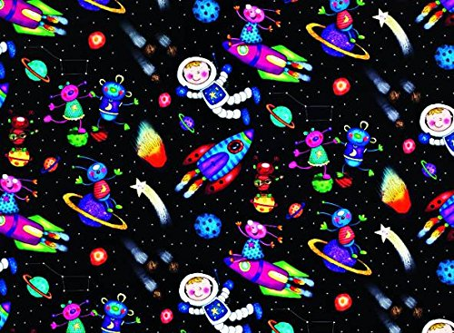 2-sheets-childrens-spaceman-rocketsplanets-wrapping-paper-matching-gift-tag
