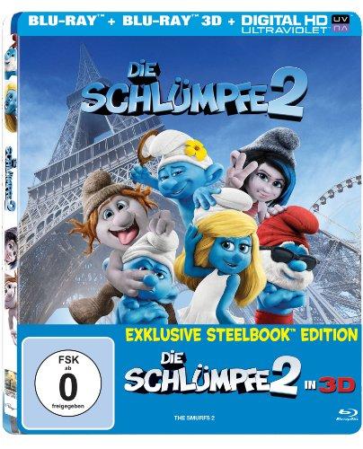 Die Schlümpfe 2 (3D Steelbook mit Lenticular Cover / Limitiert und exklusiv bei Amazon.de) [3D Blu-ray]