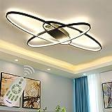 LED Plafonnier Moderne Salon Lumière Lustre Suspension Dimmable Chic Design Ellipse Métal Acrylique Plafond Luminaire de Rest
