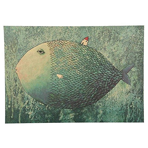 Blue Vessel Fish Haus Photo Retro Fotografie Poster Schlafsaal Bar Cafe Innendekoration Sticker (Cafe Fantasy)