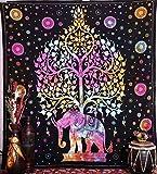 Elephant Tapisserien, Hippie-Tapisserie, Baum des Lebens Tapisserien, Wandteppiche, Bohemian Tapisserien, Indian Tapisserie Wandbehang