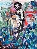 Volviendo A La Caverna Banksy Tribute Pintura Original Hecha A Mano