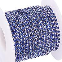 BENECREAT 10 yardas de diamantes de imitacion de cristal, cierre de cadena, claro,