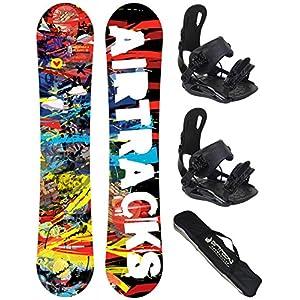 Airtracks Snowboard Set – Graffiti Snowboard Zero Rocker + Snowboardbindung Star oder Master FASTEC + Snowboard Bag / 155 159 163 cm