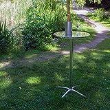 Vanage Stehtisch Bistrotisch - Bartisch ist höhenverstellbar - Aluminiumtisch gut geeignet als Beistelltisch oder Partyisch im Garten, silber -