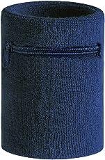 Hoter - Fascia da polso sportiva spessa con tasca zip