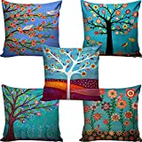 Ab Home Decor HD Digital Premium Cushion Cover 16 INCH X 16 INCH set of 5- Multicolor