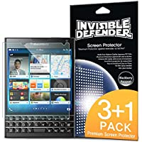 Blackberry Passport Pellicola Protettiva - Invisible Defender [3+1 Gratuite/Super-Trasparente] Premium HD Super-Trasparente Film con Sostituzione in Garanzia a vita per Blackberry Passport