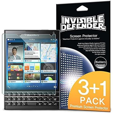Blackberry Passport Protection écran - Invisible Defender [3+1 Flim/HD Clarté] [Garantie à vie] High Definition (HD) Clarté Film Screen Protector Films de protection d