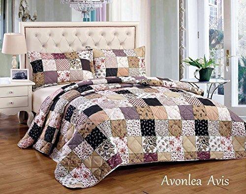 avonlea-avis-couvre-lit-king-size-3-pieces-de-luxe-motif-floral-vintage-en-patchwork-noir