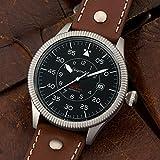 Gigandet Automatik Herren-Armbanduhr Red Baron I Fliegeruhr Uhr Datum Analog Lederarmband Braun Schwarz G8-002 - 2
