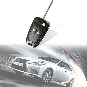 Katur Uncut 2 Tasten Fernbedienung Flip Key Fob 3btn 433mhz Für Opel Corsa Astra Vectra Zafira Auto
