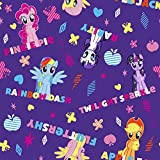Hasbro-My Little Pony 43/44 Wide 100% Cotton D/R-Ponies & Names