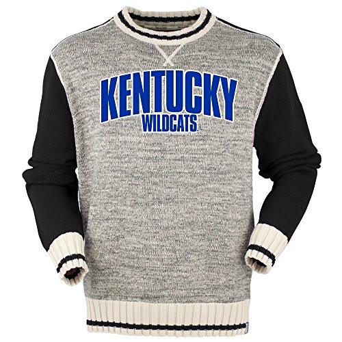 Bruzer NCAA Kentucky Wildcats Herren Crew, Herren, solide, schwarz, Large Black Collegiate Crew Sweatshirt