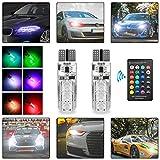 Pluscom 2X LED T10 Remote Control W5W 501 RGB Co