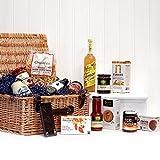 Cesto di vimini tradizionale con 14 prodotti gastronomici - Il regalo ideale per matrimoni, compleanni,...