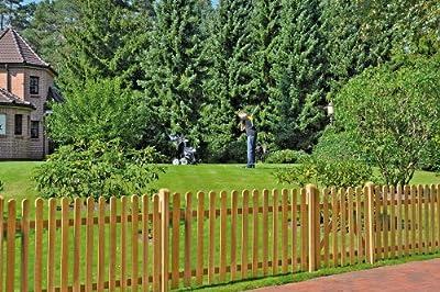 Gartenzaun Lattenzaun Staketenzaun B180 x H60 cm. von GreenSeason.de - Du und dein Garten