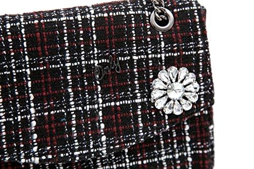 ONLY - Damen pochette schultertasche precious wool chain Schwarz