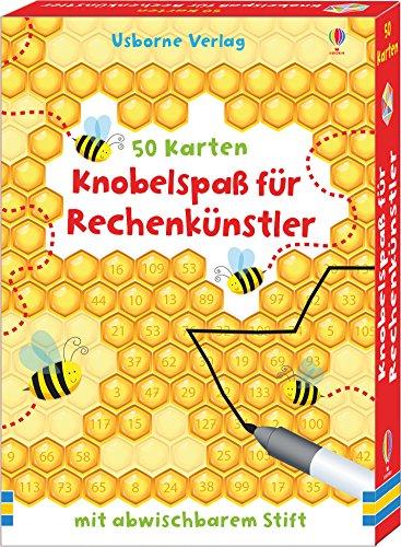 Knobelspaß für Rechenkünstler: 50 Karten mit abwischbarem Stift