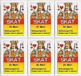 12 x Skatkarten Skatkarte Spielkarte