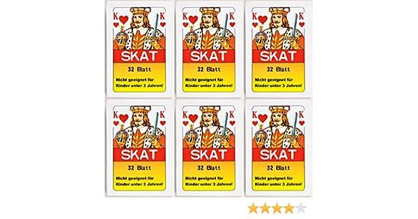 Spielzeug 36 x Skatkarten Skatkarte Spielkarte 32 Blatt Skat Karten Französische Blatt