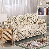 FORCHEER Sofabezug elastische Sofahusse Sesselbezug Stretchhusse Sofaüberwurf Couch Husse mit 4 verschienden Größe (3-Sitzer, Pattern #AC)