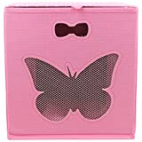 #9: Miamour Butterfly Fabric Storage Organizer, Pink