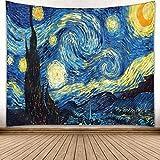 tappeto La Notte Stellata di Van Gogh, arazzo da parete, tappeto da parete, tappezzeria con stampa in alta definizione 130 x 150 cm