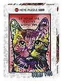 Heye 29731 - Standardpuzzle, 9 Lives 1000 Teile, Dean Russo, Mehrfarbig
