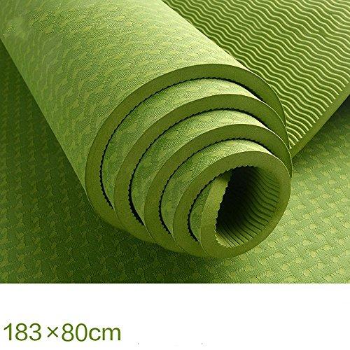 Tapis de Yoga Mat / Extended Mat Yoga / Tapis de Yoga 80CM / Tapis de massage anti-dérapant épais (4 couleurs en option) (183 * 80cm)
