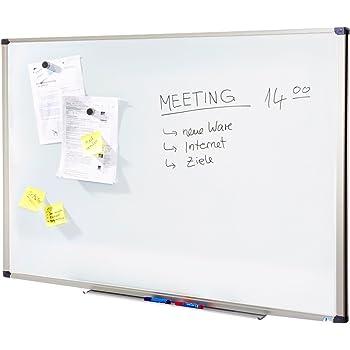 Tableau Magnétique | Tableau Blanc Master of Boards® Élu Meilleur Rapport Qualité/Prix - Serie ECO | Tableau Aimanté | Tableau Memo Cadre Alu | 60x45cm
