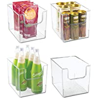 mDesign bac de rangement pour frigo, étagère ou congélateur (lot de 4) – bac alimentaire avec grande ouverture en…