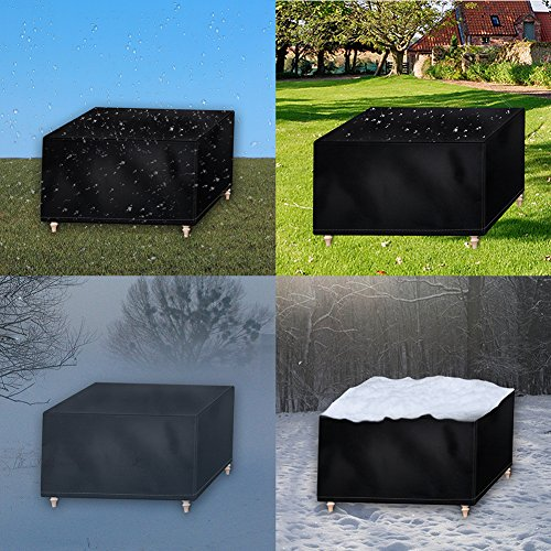 Osarke Garden Furniture Covers Waterproof Outdoor Furniture Cover for Table Chairs Rattan Furniture Covers Extra Large Rectangular Patio Cover 420D Oxford Black 270 X 180 X 89cm