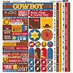 "Cowboy Cardstock Multi Stickers 12""X12""-"