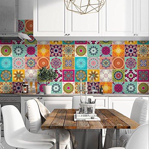 24 Pieces 10x10 cm - PS00179 Adhesivo Decorativo para Azulejos para baño y Cocina Stickers Azulejos - Made in Italy - Stickers Design