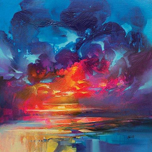 The Art Group Scott Naismith (Liquid Light 3)–Leinwanddruck 40x 40cm, Holz, mehrfarbig, 40x 40x 1,3cm (Liquid Scotts)