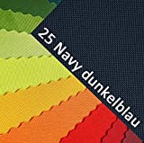 OXFORD 600D Farbe 25| Navy Dunkelblau Polyester Stoff 1 lfm